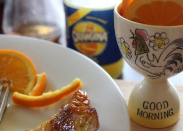 some oranges in good morning egg cup