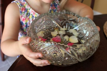 z bowl of petals for faeries