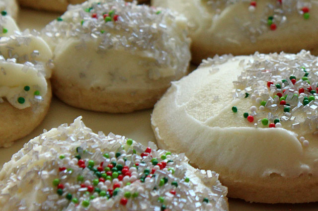 frosted sprinkle sugar cookies