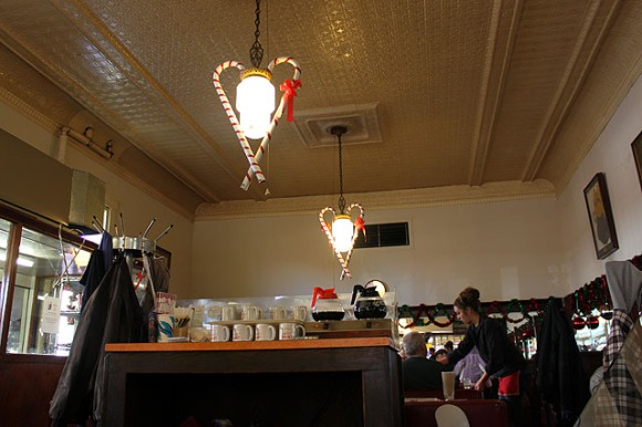 mugs olympia seating tin ceiling lights