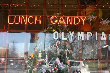 x olympia candy window