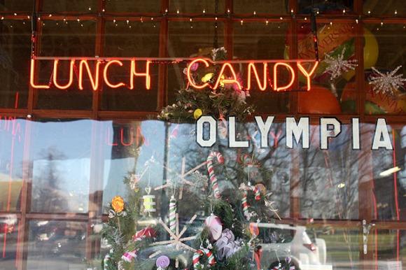x olympia candy window
