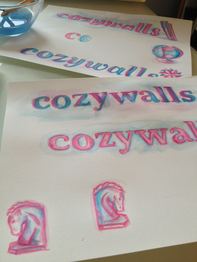 cozywalls watercolors by chickypea