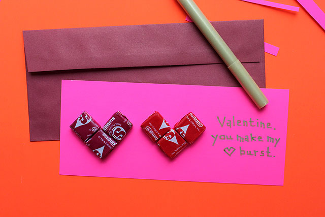 starburst valentine two hearts envelope