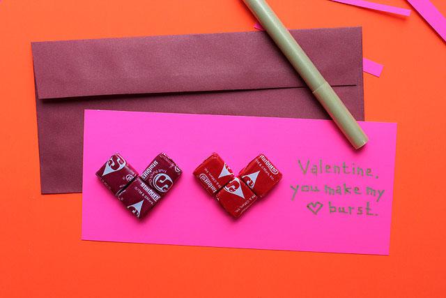 starburst valentine two hearts envelope