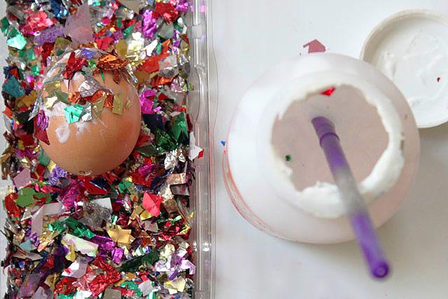 4 mod podge confetti egg