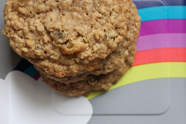 irish oatmeal cookie rainbow plate