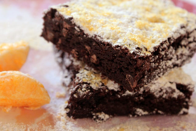 the stacked brownies tangerine dust