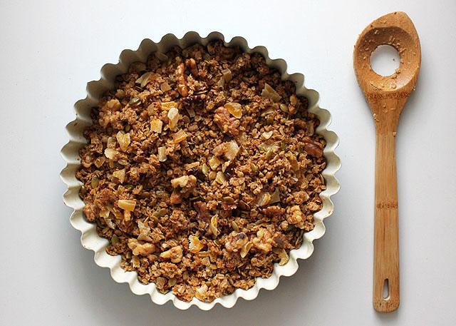 tin of baked ginger mango granola