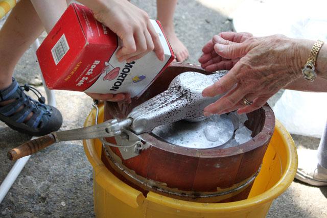 2 rock salt for hand crank ice cream at grandma's