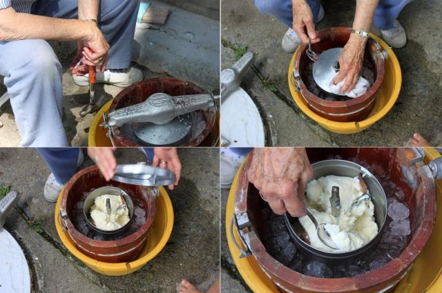 4 grandma hand crank ice cream