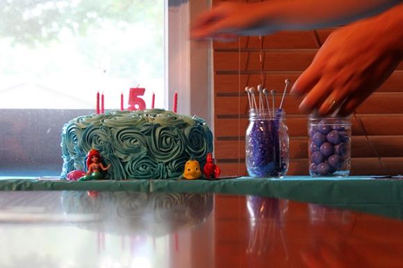 little mermaid sea cake