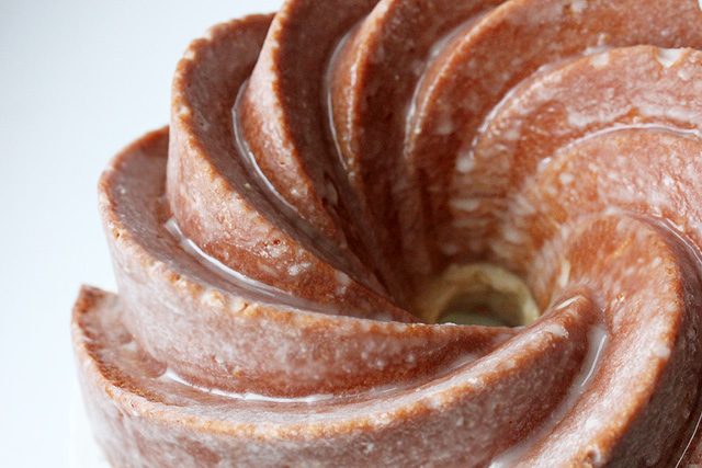 2 lemon bourbon honey glaze on bundt