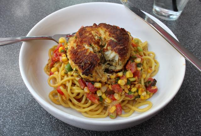 5 afterwords crabcake pasta