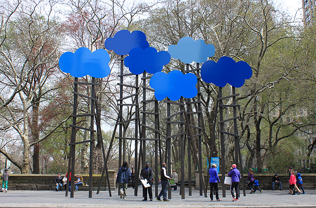 a cloud sculpture central park