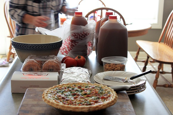 10 fall quiche cider orchard snacks on counter