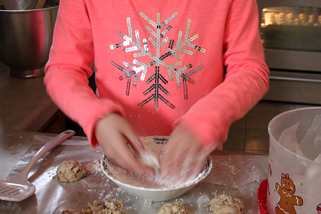 snowflake butternut cookies