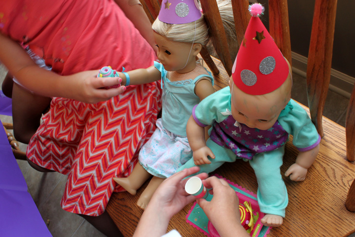 american girl party 7 birthday dolls eat