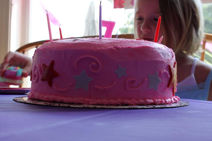 cake 7 american girl candles