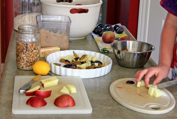 Cutting Apples and Plums for Crisp.jpg